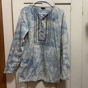 XL Tie-Dye Cotton Long Sleeve